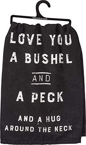 Primitives By Kathy Love You Bushel And A Peck Kitchen Towel 0