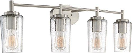 Quoizel EDS8604BN Edison Farmhouse Vanity Bath Lighting 4 Light 240 Watts Brushed Nickel 10 H X 33 W 0