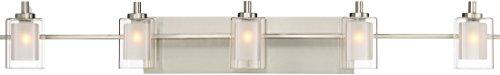 Quoizel KLT8605BNLED Kolt Modern Vanity Bath Lighting 5 Light LED 225 Watts Brushed Nickel 6 H X 42 W 0