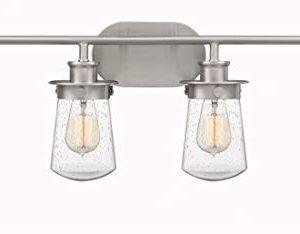 Quoizel LWN8604BN Lewiston Farmhouse Vanity Bath Lighting 4 Light 400 Watts Brushed Nickel 11H X 30W 0 300x234