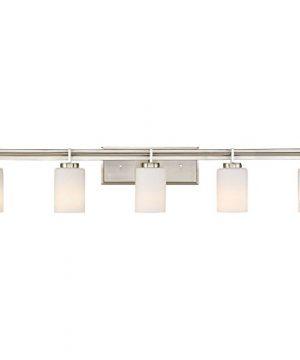 Quoizel TY8605BN Taylor Bath Vanity Wall Lighting Lights 5 Light 500 Watts Brushed Nickel 8H X 41W 0 300x360