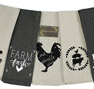 Rustic Covenant Woven Cotton Farm To Table Tea Towels 28 Inches By 16 Inches Set Of 5 0 300x284