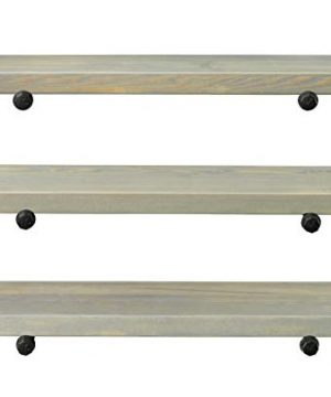 Rustic Farmhouse 3 Tier Wood Shelves With Black Pipe Brackets White Wash 3 Tier 0 5 300x360