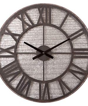Rustic Galvanized Metal Cut Out Wall Clock 0 300x360