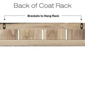 Rustic Wall Mounted Coat Rack With 4 Double Hanging Hooks Overall Size Is 24x6 Use As Coat Rack Hat Organizer Key Holder Perfect For Entryway Mudroom Kitchen Bathroom Hallway Foyer 0 1 300x360
