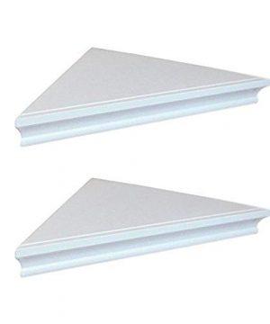SHELVING SOLUTION Corner Wall Shelf White 0 0 300x360