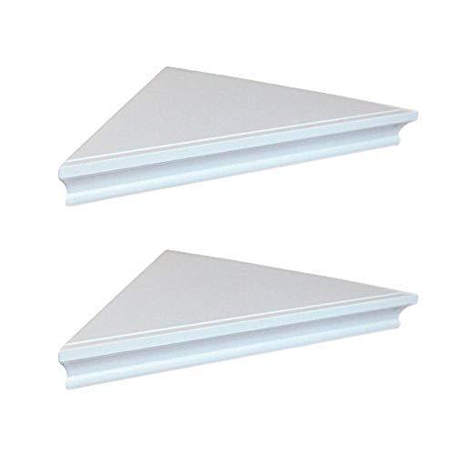 SHELVING SOLUTION Corner Wall Shelf White 0 0