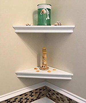 SHELVING SOLUTION Corner Wall Shelf White 0 1 300x360