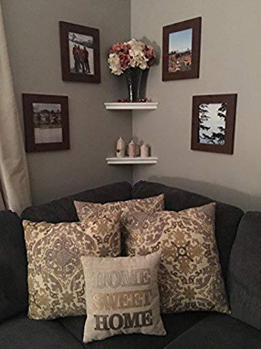 SHELVING SOLUTION Corner Wall Shelf White 0 2