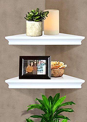 SHELVING SOLUTION Corner Wall Shelf White 0 3