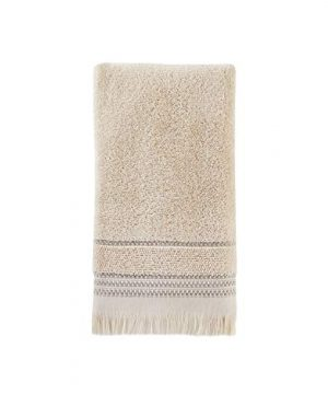 SKL Home By Saturday Knight Ltd Jude Fringe 2 Piece Hand Towel Set Taupe 0 0 300x360