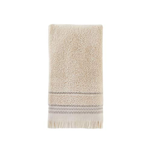 SKL Home By Saturday Knight Ltd Jude Fringe 2 Piece Hand Towel Set Taupe 0 0