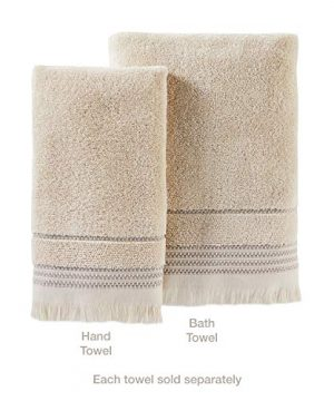 SKL Home By Saturday Knight Ltd Jude Fringe 2 Piece Hand Towel Set Taupe 0 1 300x360