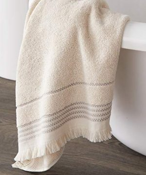 SKL Home By Saturday Knight Ltd Jude Fringe 2 Piece Hand Towel Set Taupe 0 2 300x360