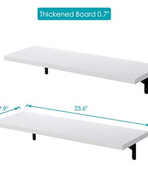 SUPERJARE Wall Mounted Shelves Set Of 2 Display Ledge Storage Rack For RoomKitchenOffice White 0 1 300x360