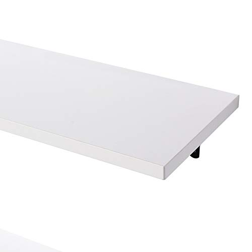 SUPERJARE Wall Mounted Shelves Set Of 2 Display Ledge Storage Rack For RoomKitchenOffice White 0 4