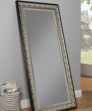 Sandberg Furniture Wall Monaco Full Length Leaner Mirror Antique SilverBlack 0 1 300x360