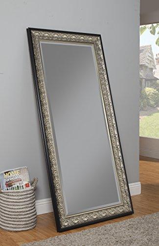 Sandberg Furniture Wall Monaco Full Length Leaner Mirror Antique SilverBlack 0 1