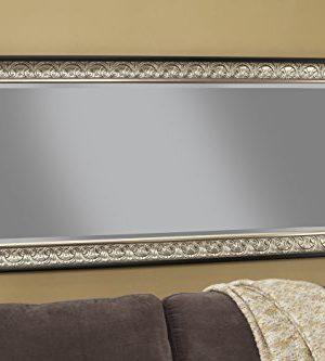 Sandberg Furniture Wall Monaco Full Length Leaner Mirror Antique SilverBlack 0 2 300x333