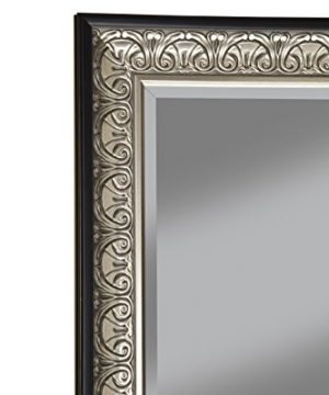 Sandberg Furniture Wall Monaco Full Length Leaner Mirror Antique SilverBlack 0 3 300x360