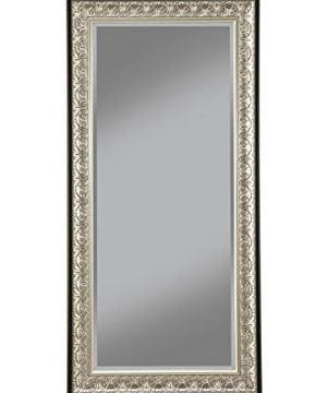 Sandberg Furniture Wall Monaco Full Length Leaner Mirror Antique SilverBlack 0 300x360