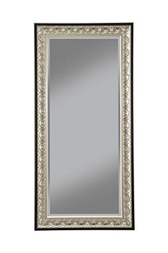 Sandberg Furniture Wall Monaco Full Length Leaner Mirror Antique SilverBlack 0