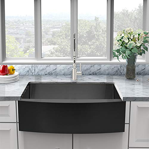 Black Farmhouse Sink Sarlai 30 X 22 Farm Sink Black Stainless Steel Gunmetal Matte Black Farmhouse Sink Apron Front 16 Farmhouse Goals
