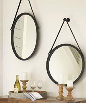Signature Design By Ashley Dusan Accent Mirror Circular Metal Frame Black 0 1 300x360