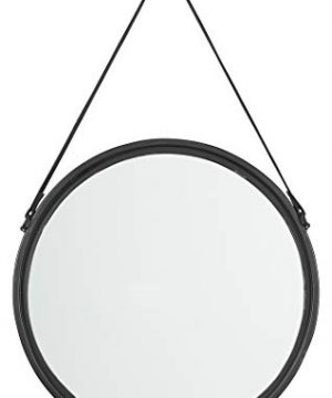 Signature Design By Ashley Dusan Accent Mirror Circular Metal Frame Black 0 300x360