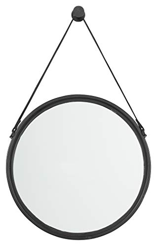Signature Design By Ashley Dusan Accent Mirror Circular Metal Frame Black 0