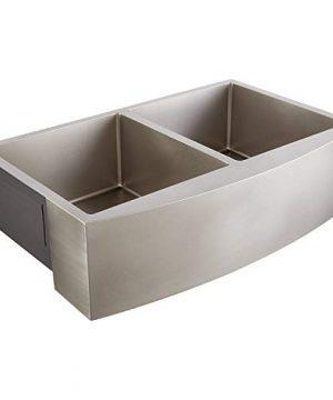 Signature Hardware 441083 Atlas 33 Farmhouse Double Basin Stainless Steel Kitchen Sink 0 0 300x360
