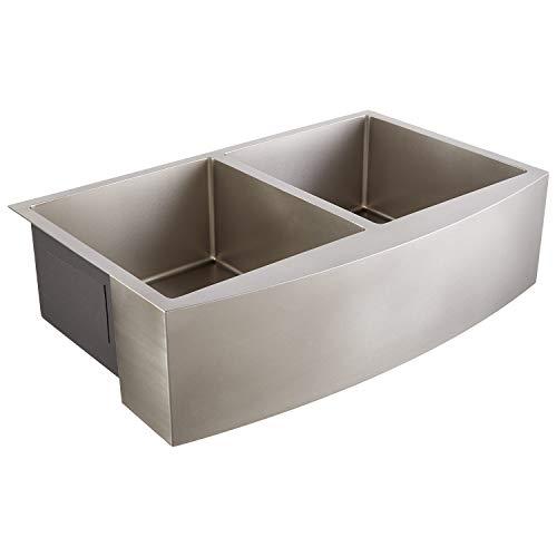 Signature Hardware 441083 Atlas 33 Farmhouse Double Basin Stainless Steel Kitchen Sink 0 0