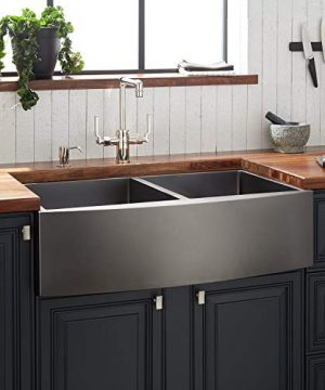 Signature Hardware 441083 Atlas 33 Farmhouse Double Basin Stainless Steel Kitchen Sink 0 300x360