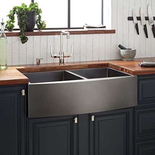 Signature Hardware 441083 Atlas 33 Farmhouse Double Basin Stainless Steel Kitchen Sink 0