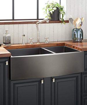 Signature Hardware 441095 Atlas 36 Farmhouse Double Basin Stainless Steel Kitchen Sink 0 300x360
