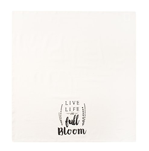 Sticky Toffee Cotton Flour Sack Kitchen Towels Live Life Stripe And Flower Prints 3 Pack 28 In X 29 In 0 2