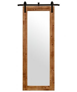 Stone Beam Rectangular Vintage Look Sliding Mirror 705H Natural 0 300x360