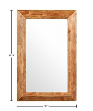 Stone Beam Rustic Wood Frame Hanging Wall Mirror 3975 Inch Height Natural 0 0 300x360