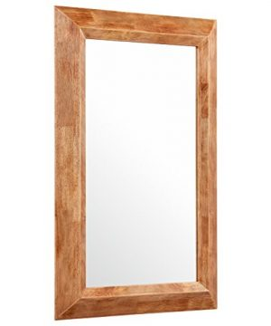 Stone Beam Rustic Wood Frame Hanging Wall Mirror 3975 Inch Height Natural 0 300x360
