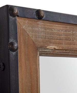 Stone Beam Wood And Iron Hanging Wall Mirror 4225 Height Natural Wood And Black 0 1 300x360