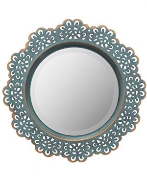 Stonebriar American Adventure Metal Lace Wall Mirror Turquoise 0 300x360