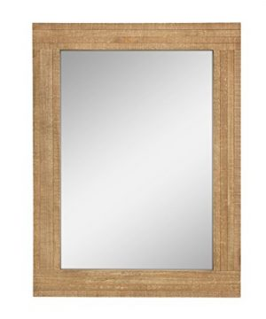Stonebriar Rectangle Natural Wood Hanging Wall Mirror Medium Brown 0 300x360