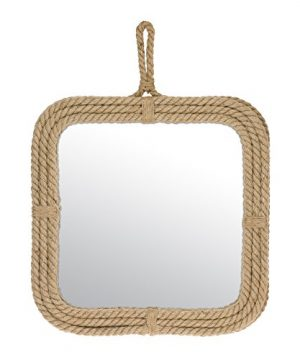 Stonebriar Small Square Rope Mirror For Wall Light Weight Rustic Decoration 0 300x360
