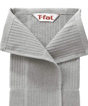 T Fal Textiles 60954 2 Pack Solid Check Parquet Design 100 Percent Cotton Kitchen Dish Towel Gray SolidCheck 2 Pack 0 2 300x360