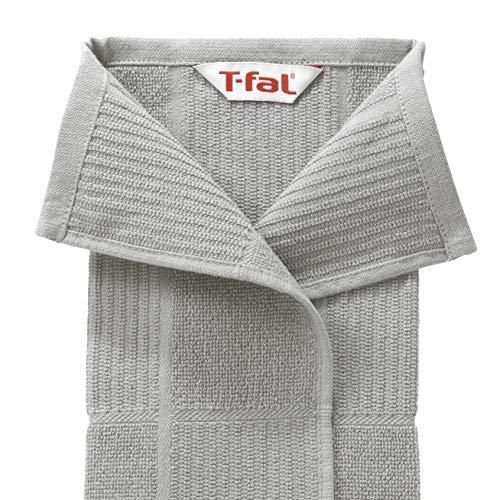 T Fal Textiles 60954 2 Pack Solid Check Parquet Design 100 Percent Cotton Kitchen Dish Towel Gray SolidCheck 2 Pack 0 2
