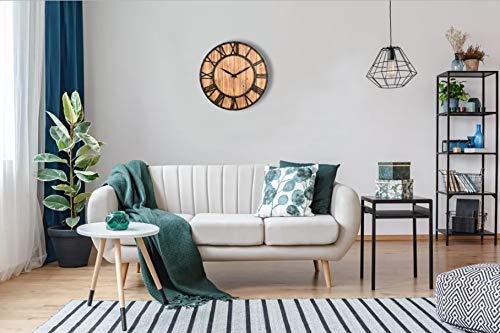 Upuptop Farm House Metal Solid Wood Wall Clock Kitchen Wall Clock Rustic Barn Vintage Bronze 16 Inch 0 3