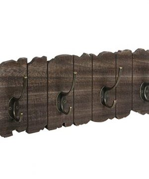 VASAGLE Wall Mounted Coat Rack Rustic Style Hook Rack With 4 Double Hooks No Assembly Required For Entryway Foyer Hallway Rustic Brown ULCH05BK 0 300x360
