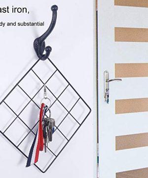 WEBI Rustic Coat HooksCast IronVintage Farmhouse Wall Hooks For Hanging TowelRobeMudroomClosetBlack5 Packs 0 3 300x360