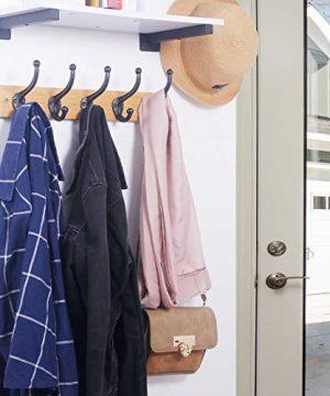 WEBI Rustic Coat HooksCast IronVintage Farmhouse Wall Hooks For Hanging TowelRobeMudroomClosetBlack5 Packs 0 4 300x360