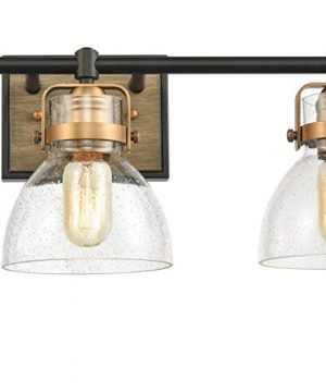 Wildsoul 40063bk Farmhouse 3 Light Bathroom Vanity Light Fixtures Rustic Wood Transitional Bath Mirror Lighting Wall Farmhouse Goals